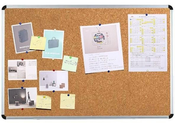 Доска офисная пробковая корковая для презентаций 60х90см алюминий