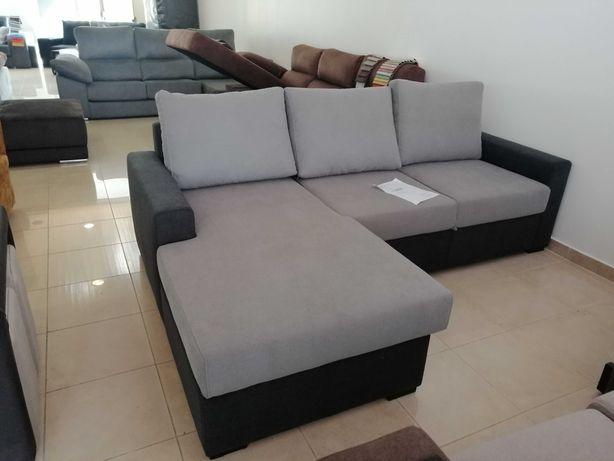 Sofá chaise cama e baú, disponível em qualquer cor e médida