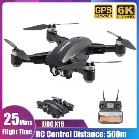 Квадрокоптер JJRC X16 с камерой 4K БК моторы Wi-Fi FPV 23 минут полета