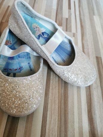 Baletki balerinki kraina lodu błyszczące rozm 28