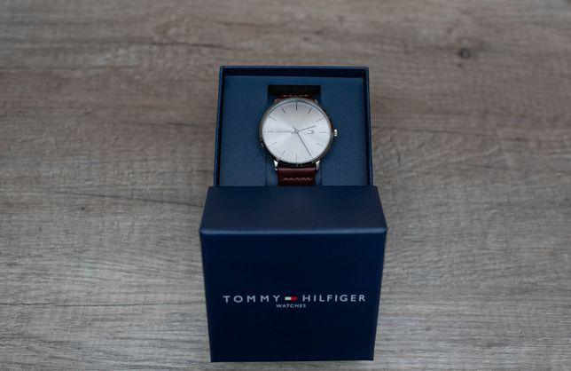 Elegancki zegarek Tommy Hilfiger brązowy pasek