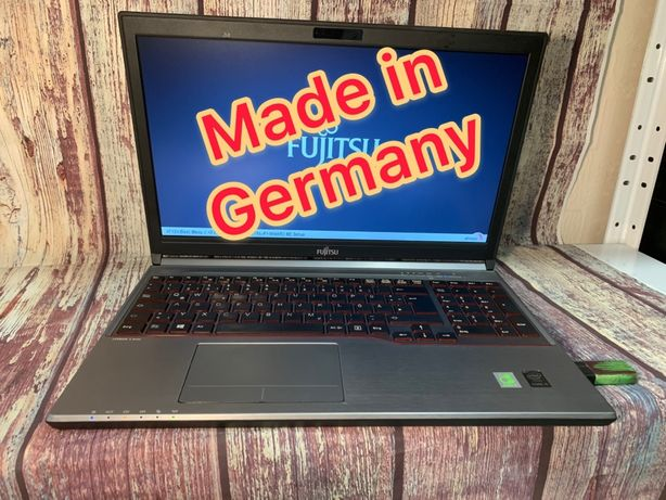 Fujitsu E754 немецкая сборка/8 ГБ ОЗУ/гарантия/4 Gen/15,6/тонки