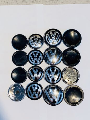 Dekielki dekle 70/65/63/60/56/55mm KOMPLET VW volkswagen golf passat