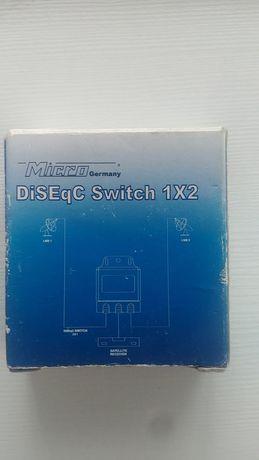 Przełącznik DiSEqC nowy w obudowie