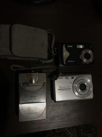 Фотоапараты разных моделей.