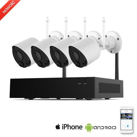 Monitoring WIFI zestaw rejestrator + 4 kamery WIFI FULL HD