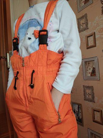 Комбез лыжный оранжевый, р.140см.