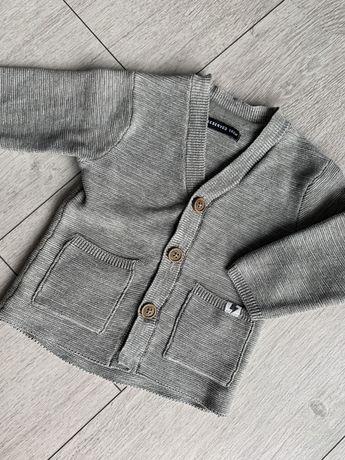 Szary sweterek rozpinany Reserved r. 68