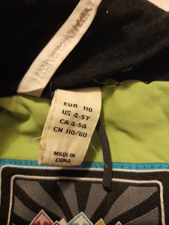 Spodnie i kurtka z odblaskamki zimowa h&m