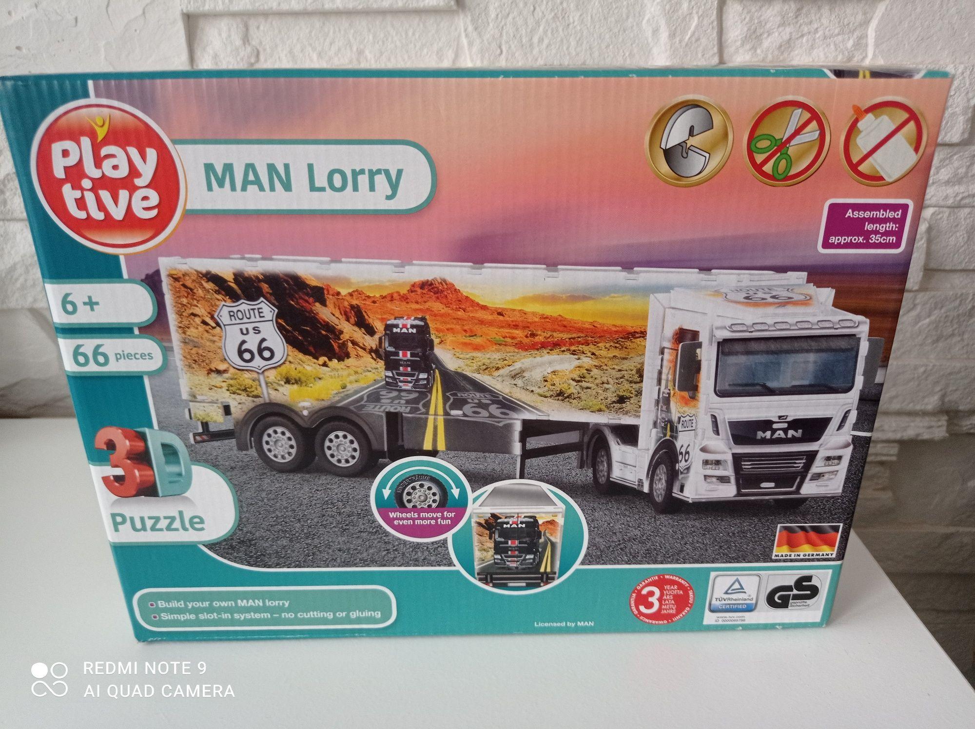 Puzzle 3D ciężarówka - Man Lorry