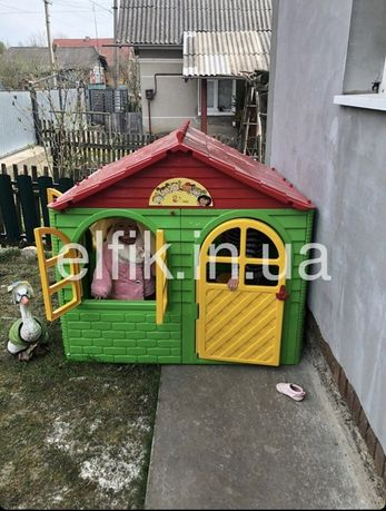 Дитячий пластиковий будиночок / Садовой пластиковый домик Долони