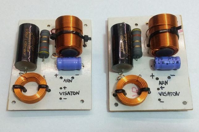 Zwrotnica dwudrożna do głośników DIY Tesla ARN150 Visaton SC10N