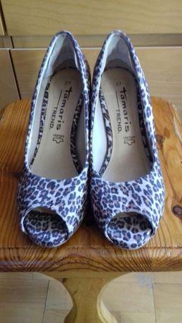 Pantofle pantera Tamaris 36 37 cena 30zł