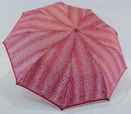 Женский зонт полуавтомат 9 спиц карбон антиветер зонтик