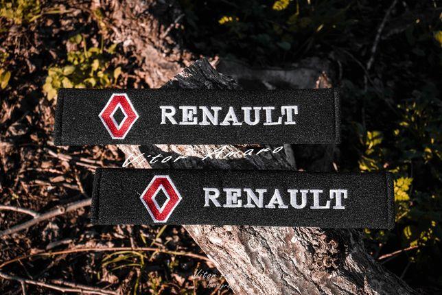 2 Almofadas/Proteções para Cinto Renault(Preto)|NOVAS