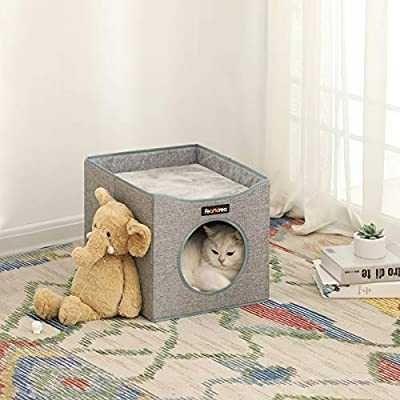 Domek dla kota Feandrea cube house szary nowy