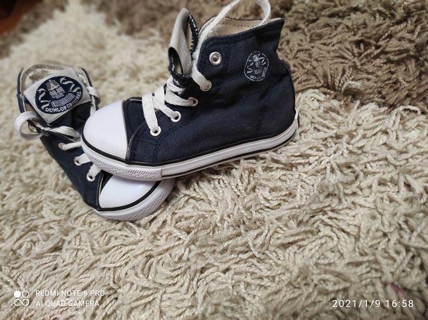 Мокасины детские джинс