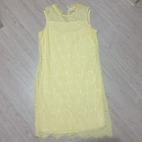 Koronkowa żółta sukienka Reserved