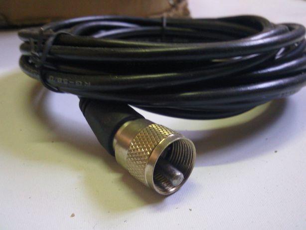 5Nowy Kabel anteny CB 5M Wtyk UC1 Zestaw naprawczny