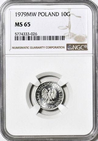 10 groszy 1979 NGC MS65
