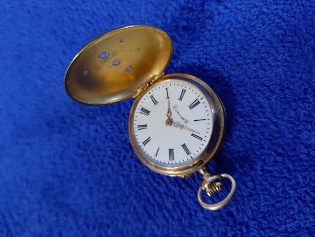 Карманные золотые часы с бриллиантами Corneille 18.87 грамм