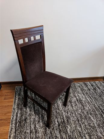 Krzesło brąz welur