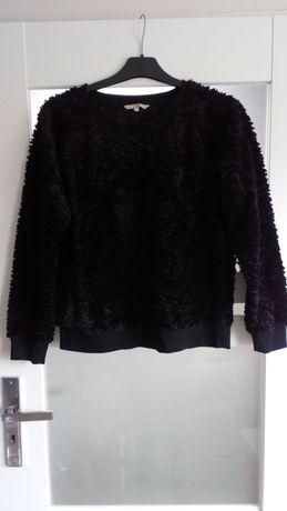 Bluza sweter C&A Clockhouse czarny miś welur futerko XL oversize