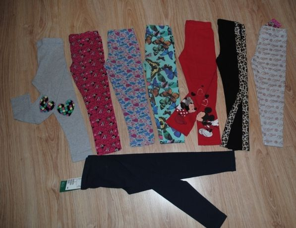 11->8szt legginsy spodnie MINNIE BELLA DISNEY F&F C&A H&M 104 3-4Y