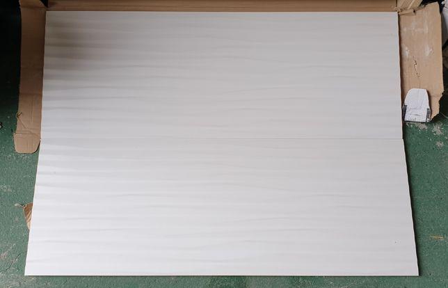 Płytki do łazienki kuchni Tubądzin UNIT PLUS WHITE 2 biała z wzorem