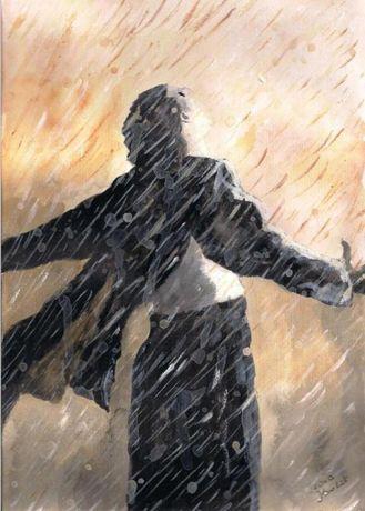 """Obraz """"W deszczu"""""""