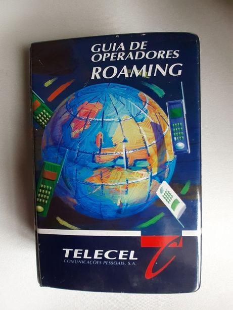 Capa A5 c/guia de operadores roaming Telecel