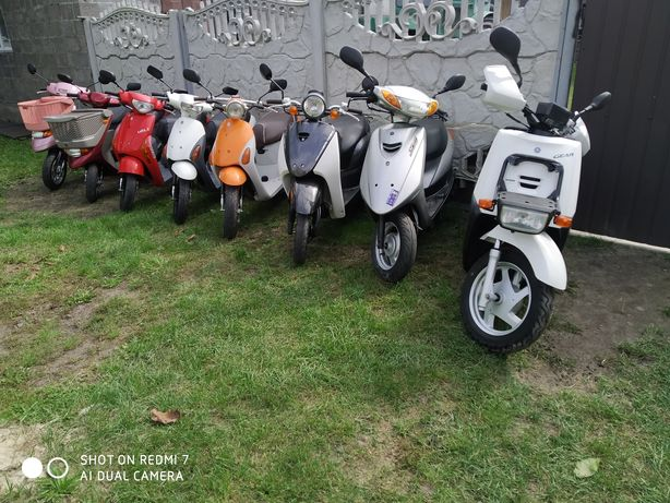 скутери з Японії,Suzuki Honda Yamaha без пробігу по Україні.