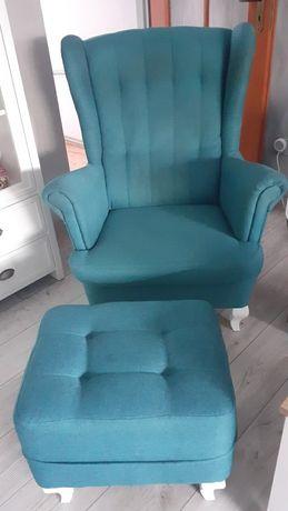 Fotel + pufa zestaw