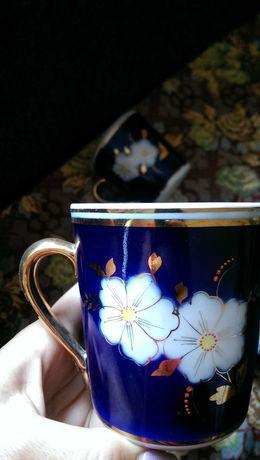 Чашки кобальт яблуневий цвіт , яблучный цвет