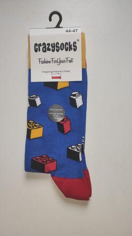 Skarpety skarpetki męskie crazysocks lego 44-47 crazy socks