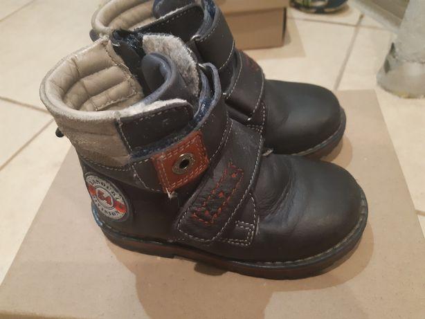 Buty chłopięce zimowe lasocki  skóra rozmiar 22