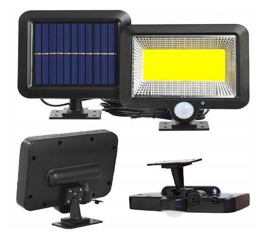 LAMPA solarna HALOGEN z czujnikiem RUCHU I ZMIERZCHU 100 x LED solar