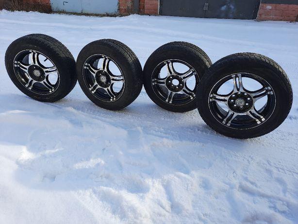 Комплект Диски титанові R14 4\100 4\98 з шинами зимові 14 175\65