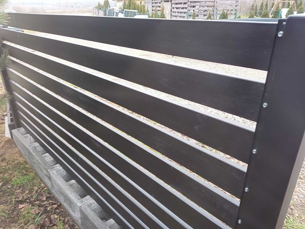 Przęsła palisadowe ocynkowane i malowane proszkowo antracyt czarne