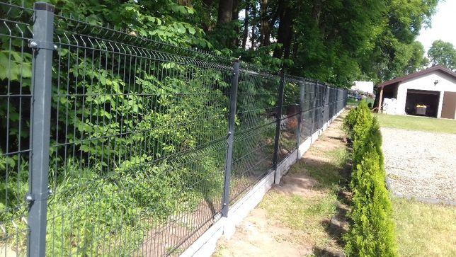 Panele ogrodzeniowe h-1,53 fi4 mm, podmurówka, słupki
