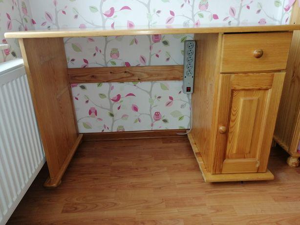 biurko sosnowe - używane