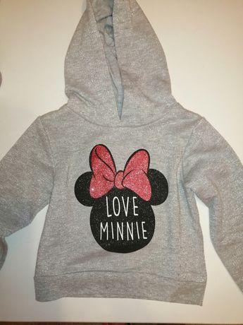 Nowa srebrna bluzka Minnie Mouse Disney rozmiar 98