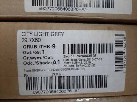 CERSANIT City Light Grey 29,7x60 Gat I