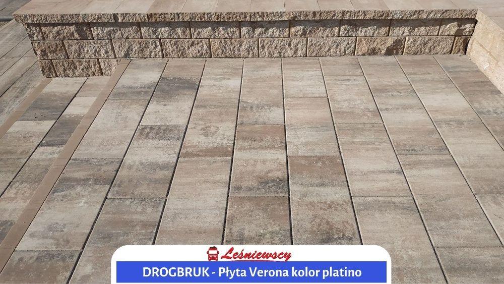 Kostka brukowa płyta tarasowa NOWOCZESNA Drogbruk-Verona kolor Platino