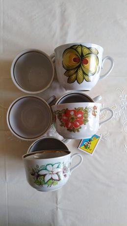 Кружки-чашки,8 шт., три расцветки