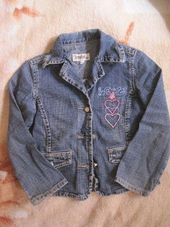 Джинсовый пиджак, жакет, джинсовка на девочку рост 110