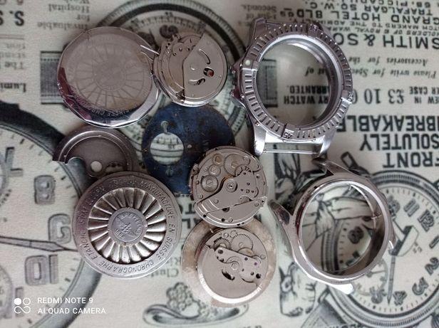 Graty ze starej chaty_stare zegarki_zestaw części, złom zegarkowy.