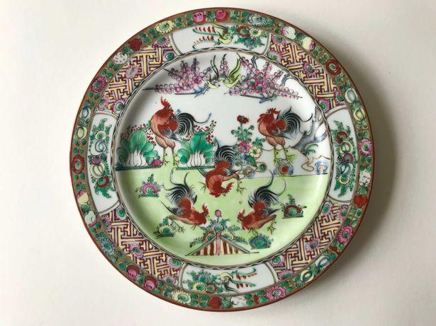 Prato de Porcelana Chinesa - Motivos Galos