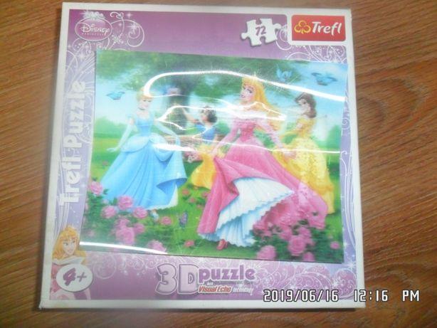 puzzle 3D 72szt trefl +4L DISNEY 25X20cm