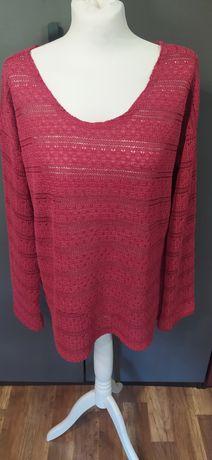 Sweter sweterek wiązany na plecach ażurowy